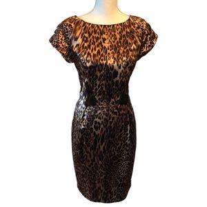 Leopard Chetta B Cocktail Dress 